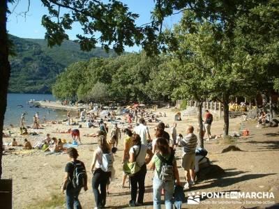 Lago de Sanabria - Playa lago de Sanabria; botas con goretex